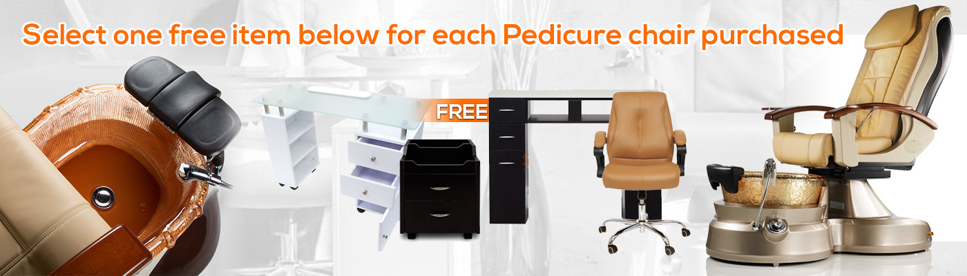 Select one free item below for each pedicure chair purchased