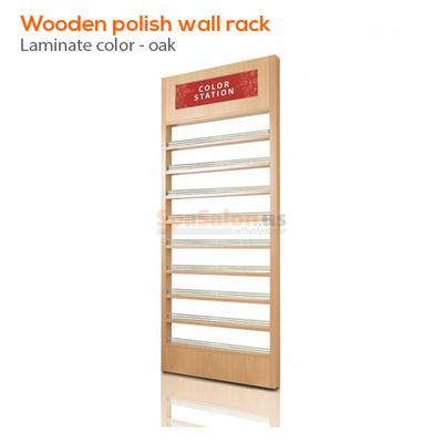 Wooden polish wall rack