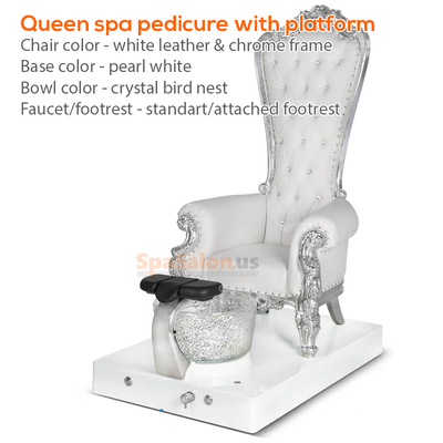 Queen spa pedicure with platform